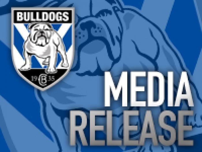 Bulldogs Media Release
