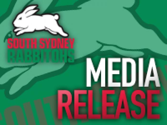 Rabbitohs Media Release