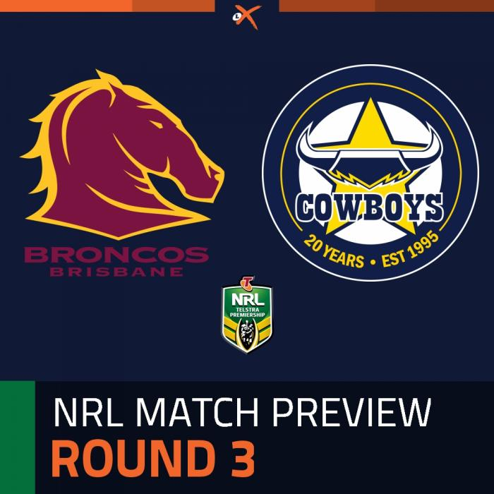 Brisbane Broncos v North Queensland Cowboys