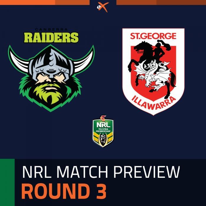 Canberra Raiders v St. George Illawarra Dragons