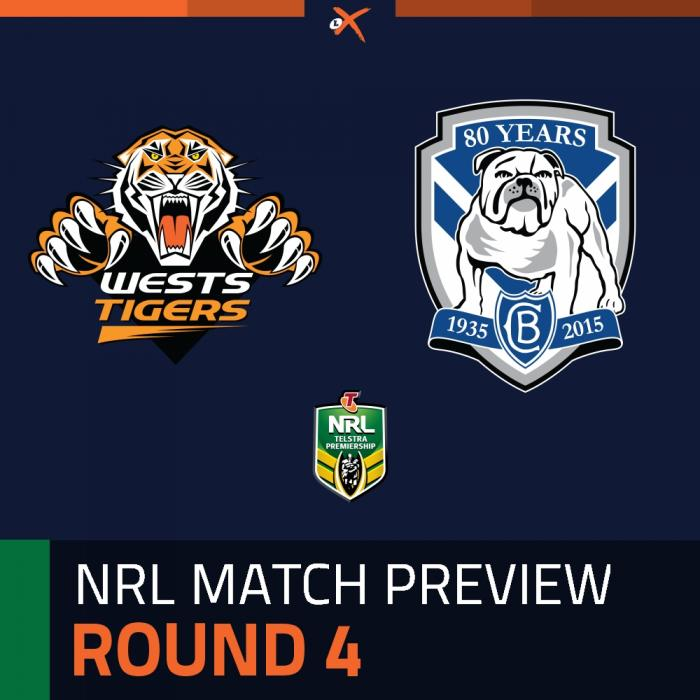 Wests Tigers v Canterbury-Bankstown Bulldogs