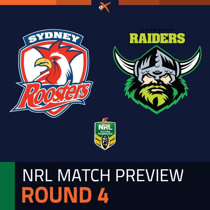 Sydney Roosters v Canberra Raiders