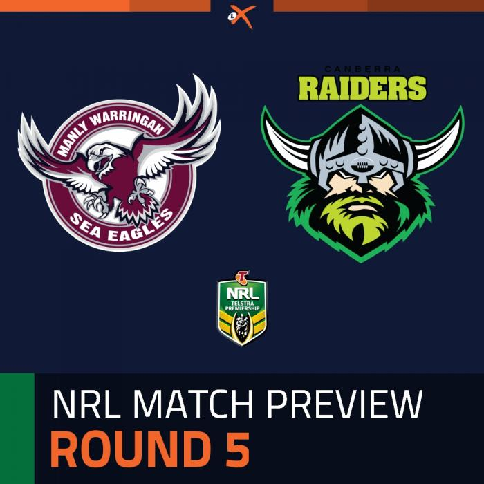 Manly-Warringah Sea Eagles v Canberra Raiders