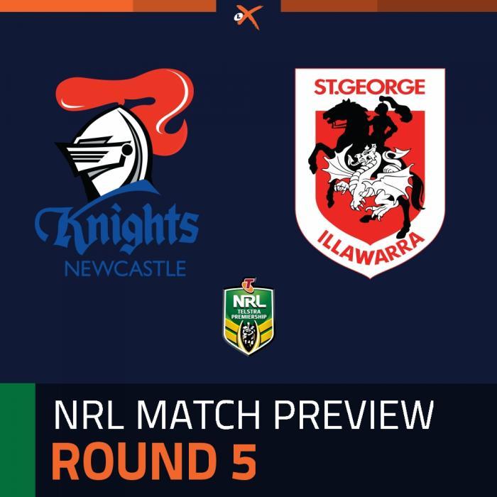 Newcastle Knights v St. George Illawarra Dragons