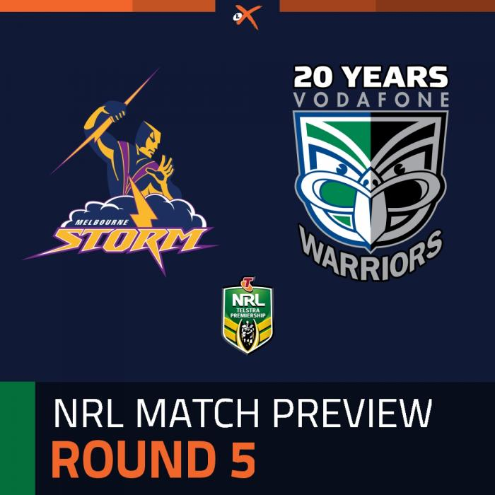 Melbourne Storm v Warriors