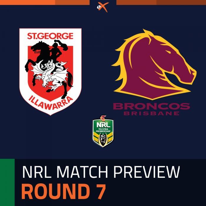 St. George Illawarra Dragons v Brisbane Broncos