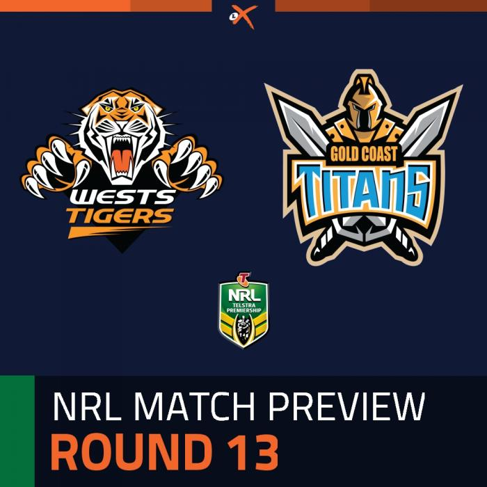 Wests Tigers v Gold Coast Titans