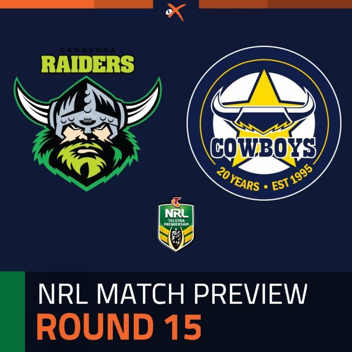Canberra Raiders v North Queensland Cowboys