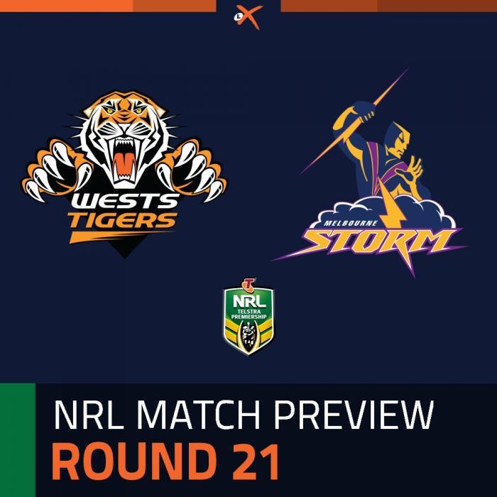 Wests Tigers v Melbourne Storm