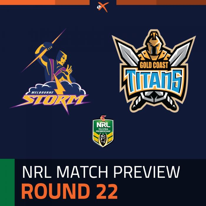 Melbourne Storm v Gold Coast Titans