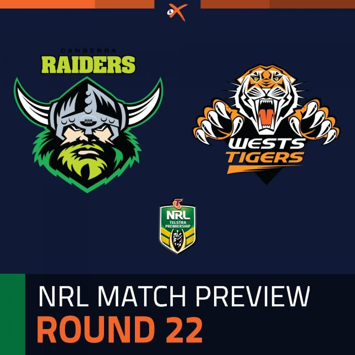 Canberra Raiders v Wests Tigers